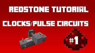 Minecraft Redstone - (Tutorial) Clocks/Pulse Circuits