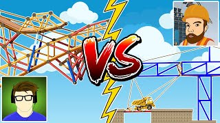 Battling the BEST bridge builder in Poly Bridge 2!