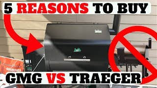 TOP 5 REASONS TO BUY GREEN MOUNTAIN GRILL VS TRAEGER! (SUMMER 2017 PELLET SMOKER)