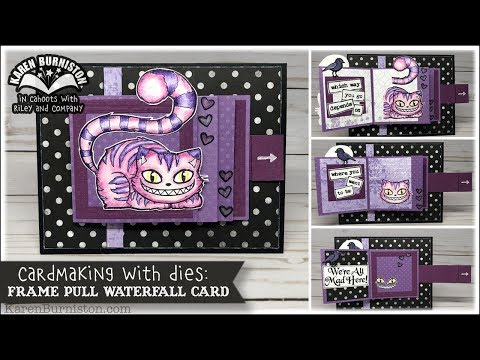Cardmaking With Dies: Frame Pull Waterfall Card