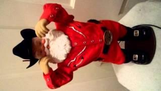 Cowboy Rock Animated Musical Santa Dances w Have a Holly Jolly Christmas Alan Jackson