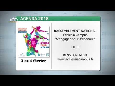 Agenda du 15 janvier 2018