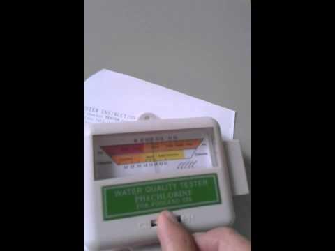 Teste Medidor de Cloro e pH de água