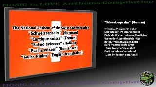 "Switzerland National Anthem ""Swiss Psalm"" INSTRUMENTAL with lyrics GE-FR-IT- RO"