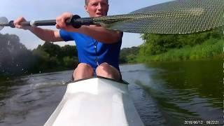 Байдарка спортивная. Тренировка на Москве реке. Первые шаги в освоении новой техники
