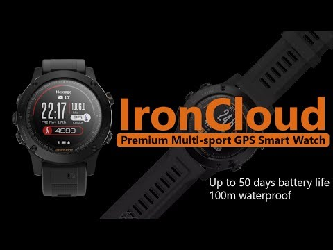 IronCloud Smartwatch with Artificial Intelligence Feature: Take Your Training To Next Level 🏃