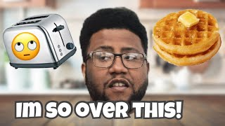 How To Make The BEST Frozen Waffles! *Sister Ruined Everything*