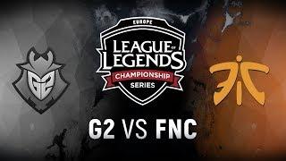 G2 vs. FNC - Week 7 Day 2   EU LCS Summer Split   G2 Esports vs. Fnatic (2018)