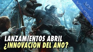 God of War, Nintendo Labo y más en abril
