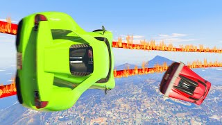 Finish The TIGHTROPE Before Your TIRES EXPLODE! (GTA 5 Funny Moments)