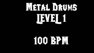 Metal Drums Level 1 (100 BPM) Free Drum Track
