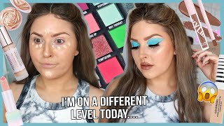 CHAOTIC AF GRWM TUTORIAL 🤯 with a brown wig and strange makeup lol by Shaaanxo