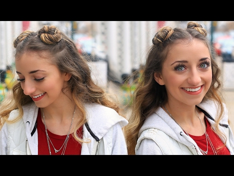 Brooklyn's Double-Bun Half Up Hairstyle & HAIR HACK | Cute Girls Hairstyles Tutorial
