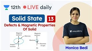 CBSE Class 12: Solid State L - 13 | NCERT | Chemistry | Unacademy Class 11 & 12 | Monica