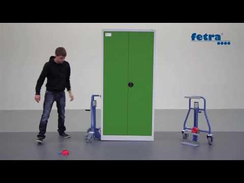Fetra Möbelhubroller-Set Vollgummi 500kg Tragkraft-youtube_img