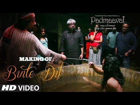 making of binte dil video song padmaavat ranveer singh jim s