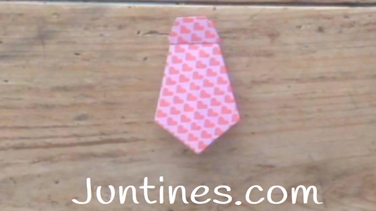 Corbatas de Origami - Tutorial para niños
