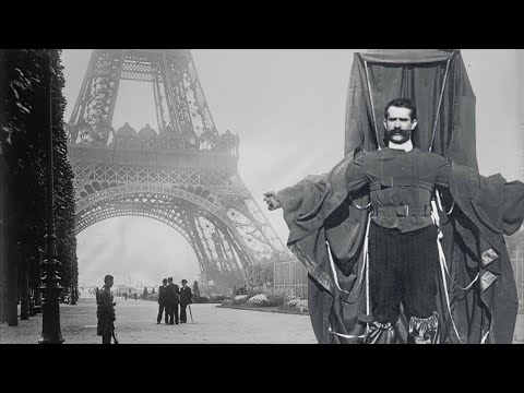 The man who jumped off the Eiffel Tower in a self-tailored Parachute Suit (1912) - British Pathe