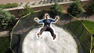 I FILLED MY WHOLE TRAMPOLINE WITH TOILET PAPER!