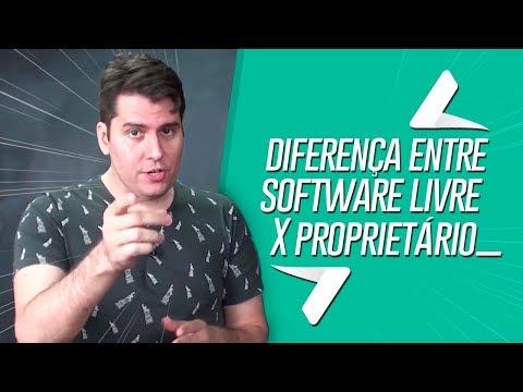 Qual é a diferença entre software livre x software Proprietário
