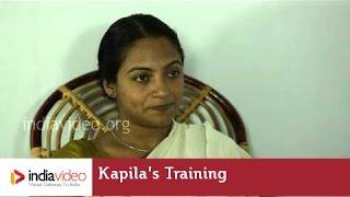 Training at Ammannur Kalari