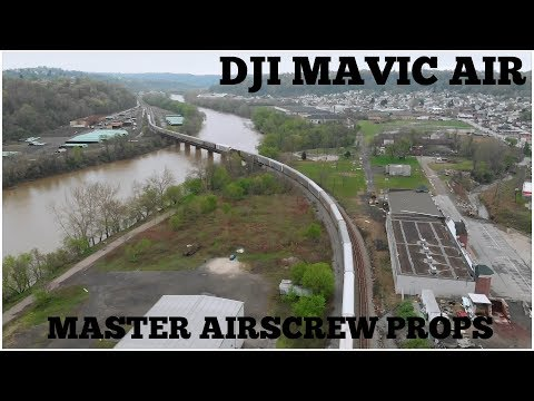 dji-mavic-air-drone-flight-with-master-airscrew-props-with-train