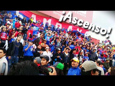 """""""Celebrando el ascenso del Ciclón de los Andes!"""" Barra: Barra de La Campana • Club: Olmedo"""