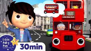 Bus Song | Vehicles for kids +Nursery Rhymes and Kids Songs | Little Baby Bum