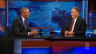 President Obama Comments on Donald Trump's Dominance at 'Daily Show'