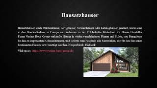 Bausatzhäuser German