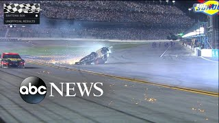 NASCAR driver in serious condition after a massive wreck at Daytona 500