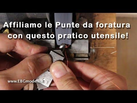 Affilare le punte da foratura per metalli con un pratico utensile