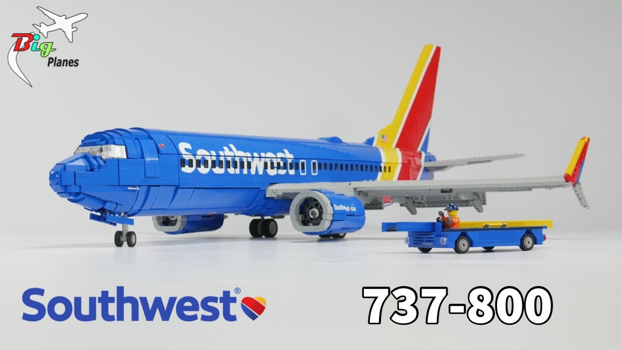 LEGO Southwest Airlines 737 MOC!! Full Interior, Over 3 Feet Long!!
