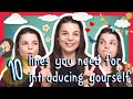 Learn the Top 10 English Lines you Need for Introducing Yourself