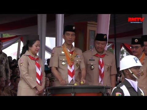 Pidato Presiden Joko Widodo Pada Peringatan Hari Pramuka Ke-55