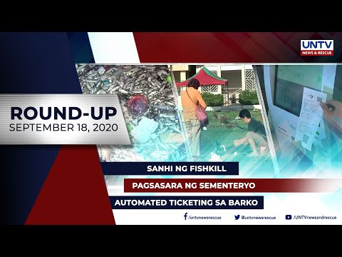 [UNTV]  UNTV NEWS ROUNDUP: Mga balitang dapat mong malaman (September 18, 2020)