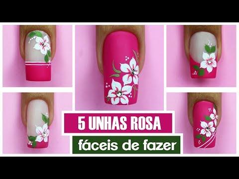 5 Bases Rosas com Flores
