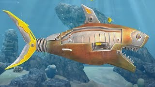 Double Head Shark Attack - Hungry Robot Shark Two Headed Sharks Attack Gameplay (iOS/Android)