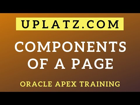 Components of a Page | Oracle APEX Training |Oracle Application ...