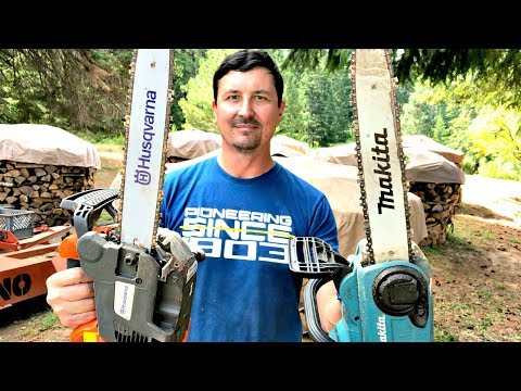 Gas Chainsaw V.S. Electric – SHOCKING OUTCOME ! ! !
