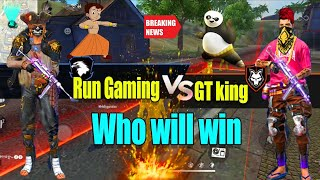 Gt vs Runoutarun clash squad || south India's top 2  Free fire YouTubers || Run gaming Tamil