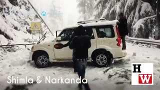 Season's First Snowfall In Shimla City