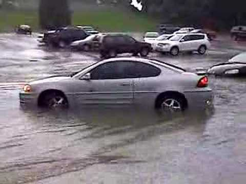 My Car In Some Water After The Flood