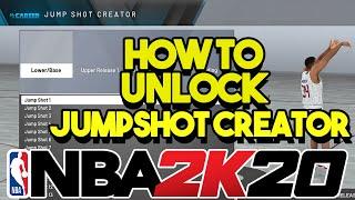 HOW TO UNLOCK JUMPSHOT CREATOR IN NBA 2K20 🔥🔥🔥