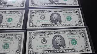 Old Dollar bills. Museum like quality.