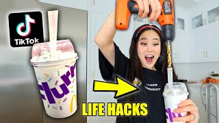 We TESTED Viral TikTok Life Hacks to see if they work *SHOCKING*