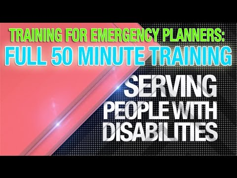 Veure vídeo Disability Training for Emergency Planners