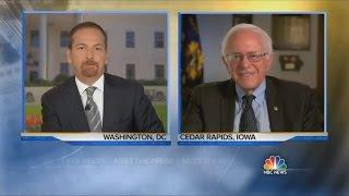 Bernie Sanders on Meet The Press 8/16/2015