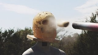 Potato Cannon vs. Human Head