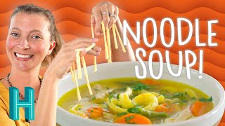 Homemade Chicken Noodle Soup (to cure what ails you!) - Hilah Cooking